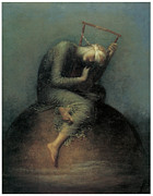 Blindfold Posters - Hope Poster by George Frederic Watts
