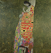Cloak Painting Framed Prints - Hope II Framed Print by Gustav Klimt
