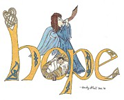 Manger Posters - Hope in Color Poster by Wendy ONeil