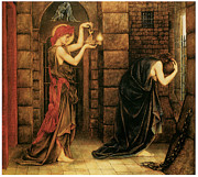 Hope Paintings - Hope in the Prison of Despair by Evelyn De Morgan