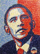 Barack Obama Mixed Media Framed Prints - Hope is Still There Framed Print by Eric McGreevy