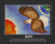 Eagle Pastels Prints - Hope Print by Jalal Gilani