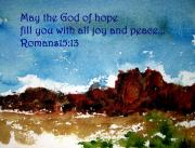 Devotional Mixed Media - Hope joy and peace by Anne Duke