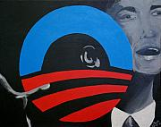 Obama Paintings - Hope by Kayon Cox