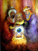 Child Jesus Painting Originals - Hope of the World by Deborah Smith