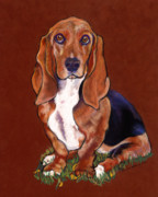Dog Portraits Pastels Prints - Hope Print by Pat Saunders-White