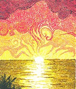 Pointillism Art - Hope Rise by DC Decker