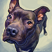 Dog Portrait Prints - Hope Print by Sean ODaniels