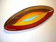 Olive  Glass Art - Hope Series - oval boat by Kristy Sly