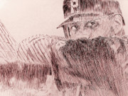 Mlb Art Drawings - Hope Springs Eternal by Robbi  Musser