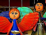 Folkart Photos - Hopeful Angels by Olden Mexico