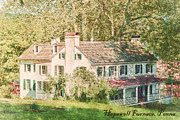 Farm House Prints - Hopewell Furnace in Pennsylvania Print by Olivier Le Queinec