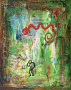 Hopi Mixed Media Prints - Hopi - Snake clan and serpent mound Print by Paul Parsons