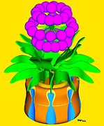 Bed Posters - Hopi Flower Poster by Buddy Paul