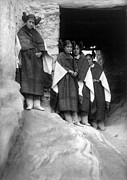 Adobe Framed Prints - Hopi Maidens, 1906 Framed Print by Granger
