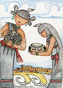 Hopi Mixed Media Prints - Hopi Manas I Print by Dalton James