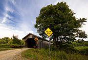 Classic New England Prints - Hopkins Covered Bridge Print by Stephanie McDowell