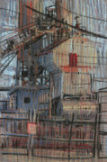 Industrial Pastels Originals - Hopper by Donald Maier