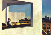 American City Prints - Hopper: Office, 1953 Print by Granger