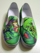 Dart Paintings - Hoppy Shoes by Adam Johnson