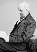 New York Tribune Prints - Horace Greeley 1811-1872, Ca. 1860 Print by Everett