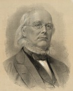 New York Tribune Prints - Horace Greeley 1811-1872, Ca. 1872 Print by Everett
