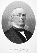 Greeley Framed Prints - Horace Greeley (1881-1872) Framed Print by Granger