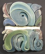 Relief Sculpture Reliefs Framed Prints - Horizon Framed Print by James Day