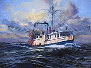 Tall Ships. Marine Art Paintings - Horizon by Phil Cusumano