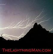 Lightning Prints - Horizonal Lightning Poster Print by James Bo Insogna