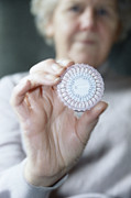 Elderly People Art - Hormone Replacement Therapy Pills by Cristina Pedrazzini