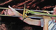 Trombone Mixed Media - Horn 3 by Steve Ohlsen