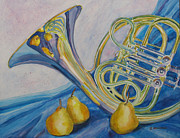 French Horn Prints - Horn dAnjou Print by Jenny Armitage
