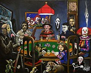 Michael Painting Framed Prints - Horror Card Game Framed Print by Tom Carlton
