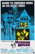 1960s Poster Art Posters - Horror House, Aka The Haunted House Of Poster by Everett