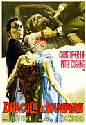 1950s Poster Art Framed Prints - Horror Of Dracula Aka Dracula Framed Print by Everett