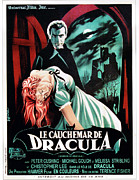 1950s Poster Art Art - Horror Of Dracula Aka Le Cauchemar De by Everett