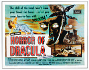 1950s Movies Photo Posters - Horror Of Dracula, Poster Art, 1958 Poster by Everett