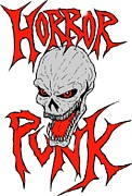 Scary Digital Art Originals - Horror Punk by Luke Kegley