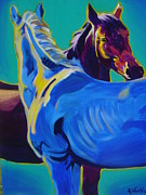 Stylized Paintings - Horse - Friendship by Alicia VanNoy Call