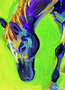 Mustang Paintings - Horse - Green by Alicia VanNoy Call