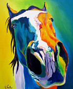 Colorful Animal Paintings - Horse - Up Close and Personal by Alicia VanNoy Call