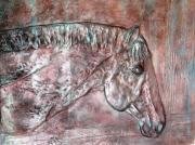 Largemouth Bass Reliefs - Horse by Alex Sinel
