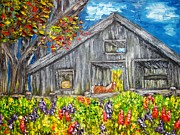 Annamarie Sidella-Felts - Horse and Barn