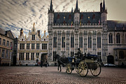 Architecture Prints - Horse and Carriage Print by Joan Carroll