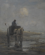 Isolated Paintings - Horse and Cart by Evert Pieters
