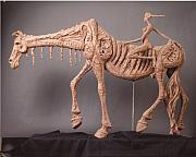 Music Sculptures - Horse and Rider by Chris Riccardo