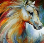 Marcia Prints - Horse Angel No 1 Print by Marcia Baldwin