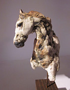 Animal Sculpture Originals - Horse by Anna Garberg