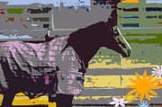 Juvenile Wall Decor Mixed Media Metal Prints - Horse Art for Children Metal Print by ArtyZen Kids